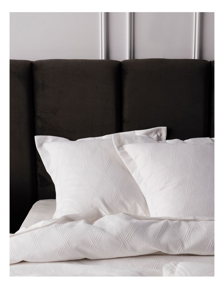 Antoine Quilt Cover Set in White image 2