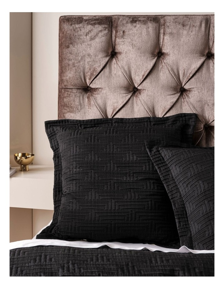 Winston Quilt Cover Set In Black image 2