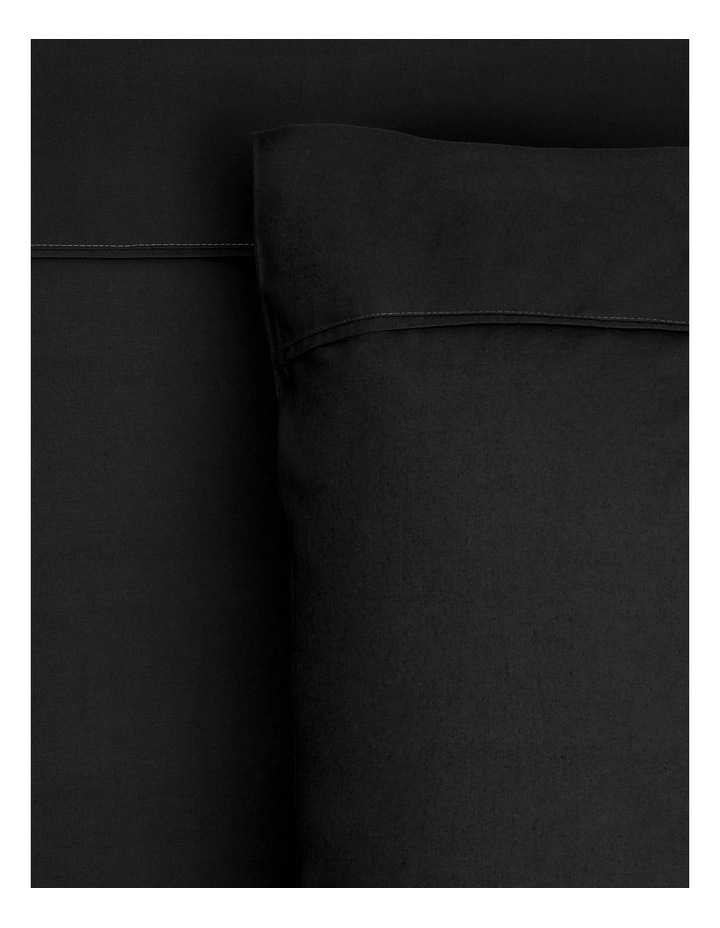 300TC Superfine Cotton Sheet Set in Black image 1