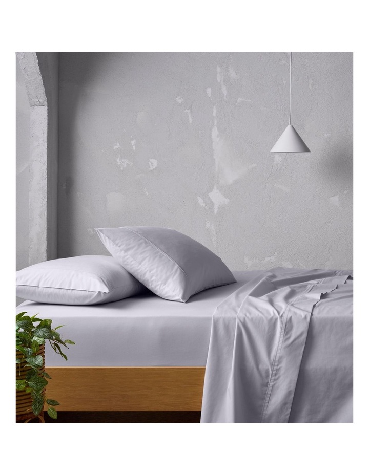 300 TC Superfine Cotton Sheet Set in Silver image 1