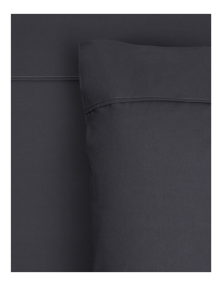 300TC Superfine Cotton Sheet Set in Charcoal image 1