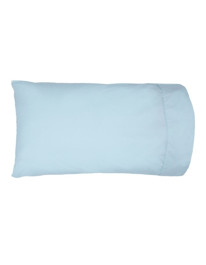 300 TC Superfine Cotton Sheet Set in Faded Blue image 2