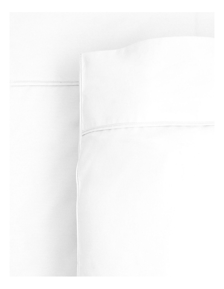 300 TC Superfine Fitted Sheet in White image 1