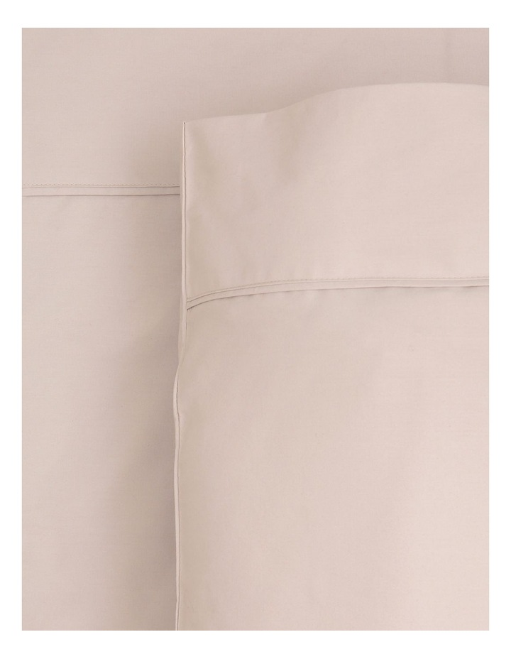 300 TC Superfine Cotton Fitted Sheets in Sand image 1