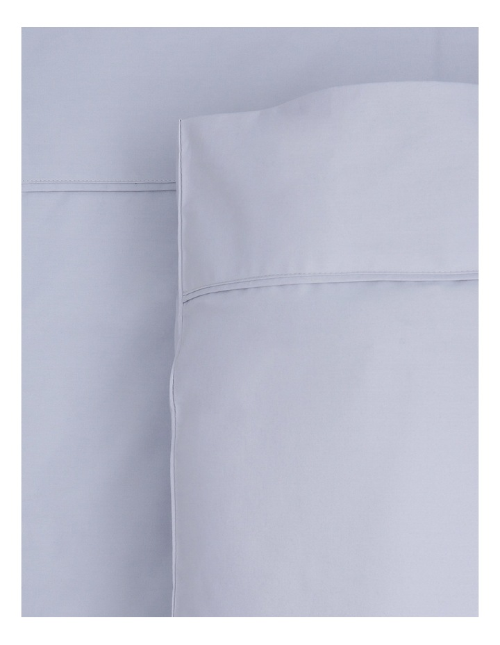 300TC Superfine Cotton Fitted Sheets in Silver image 1