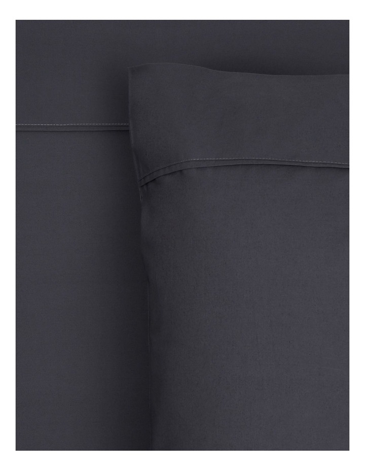 300 TC Superfine Cotton Fitted Sheets in Charcoal image 1