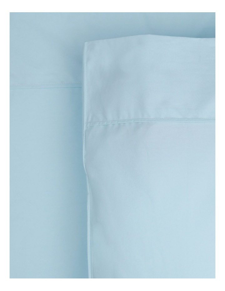 300 TC Superfine Cotton Fitted Sheets in Pale Blue image 1
