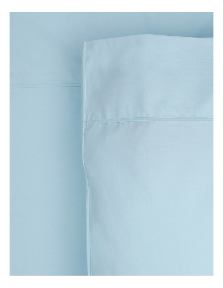 300TC Superfine Cotton Fitted Sheets in Faded Blue image 1