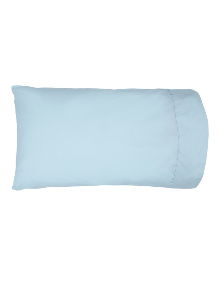 300TC Superfine Cotton Fitted Sheets in Faded Blue image 2