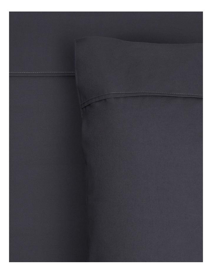 300TC Superfine Cotton Sheet Set in Charcoal - 50cm Deep Depth image 1