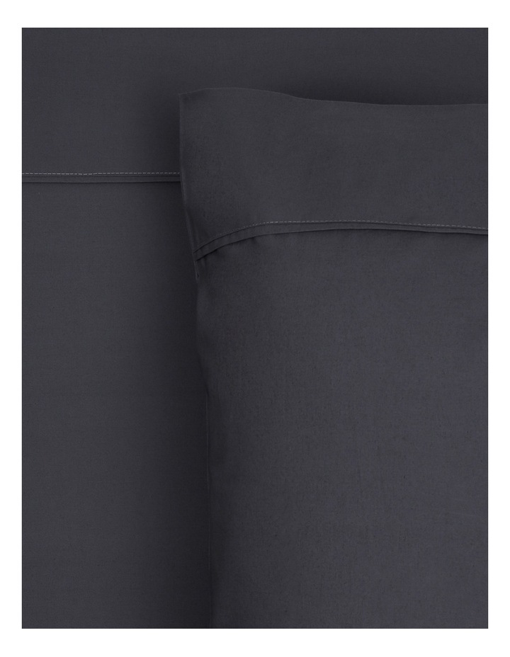 300TC Superfine Sheet Set in Charcoal - 50cm Deep Depth image 1