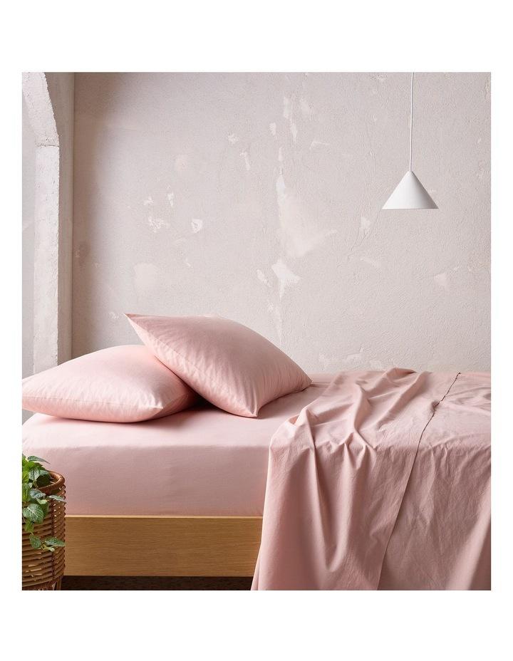 250TC Organic Stonewashed Cotton Sheets in Pink Sand image 1