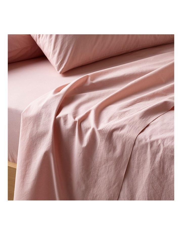 250TC Organic Stonewashed Cotton Sheets in Pink Sand image 2