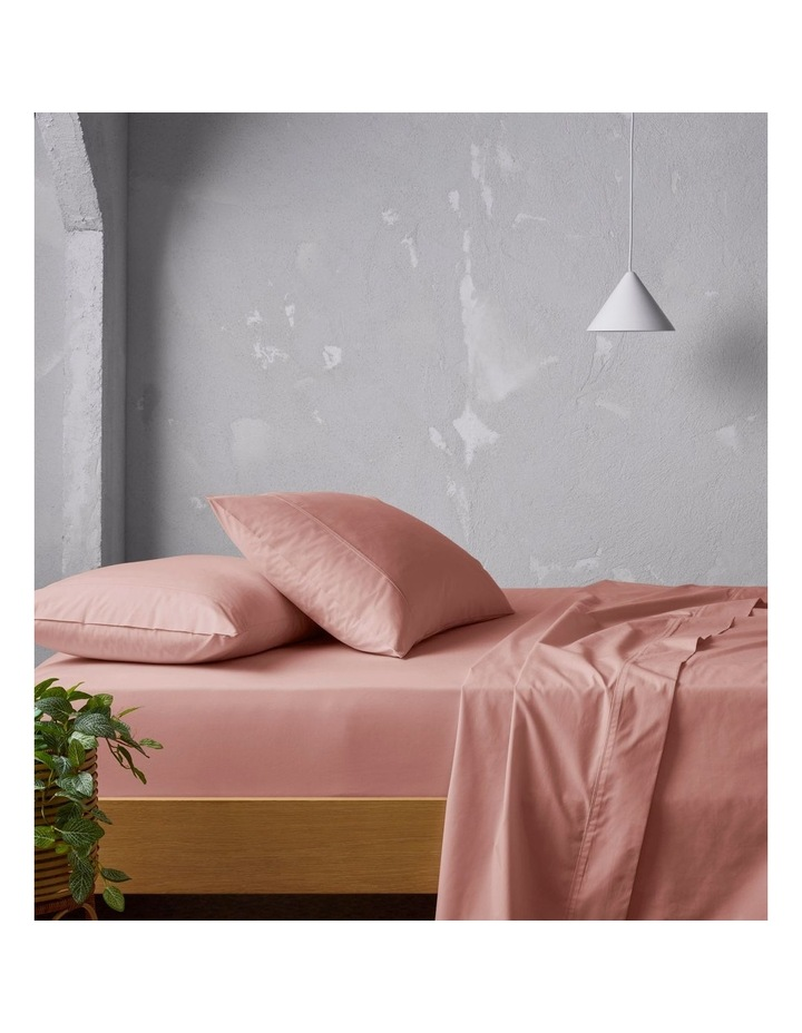 300TC Superfine Sheeting in Pink Clay image 1