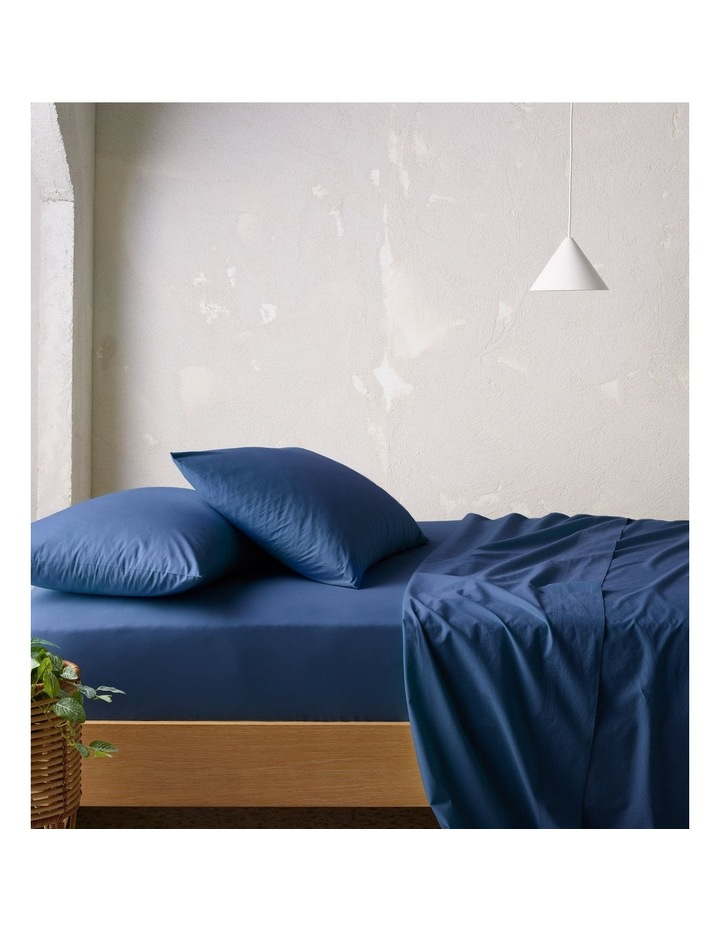 300TC Superfine Sheeting in Navy image 1