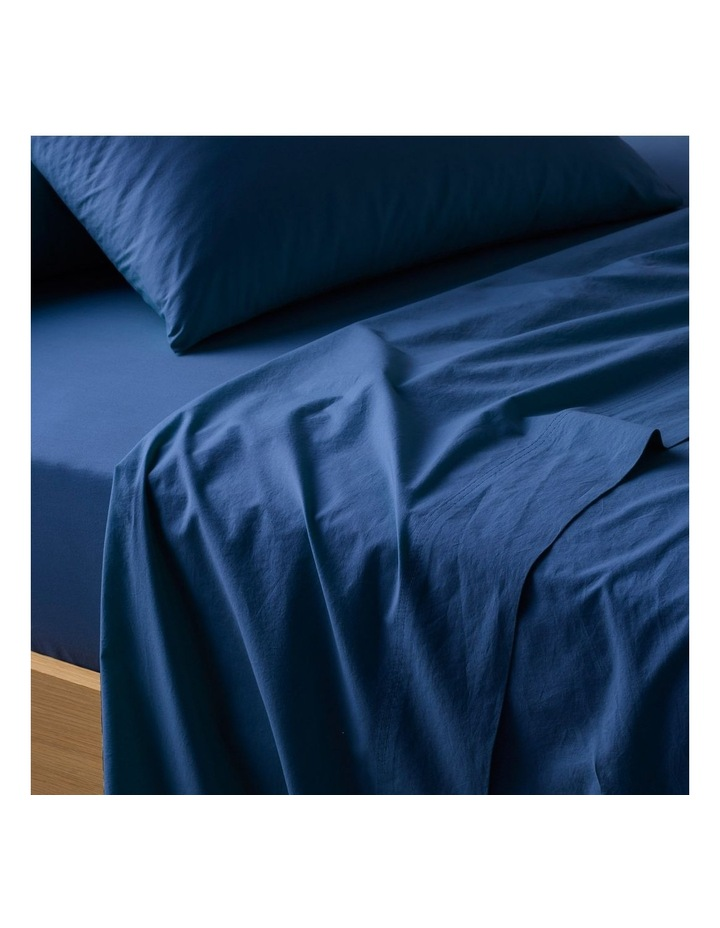 300TC Superfine Sheeting in Navy image 2
