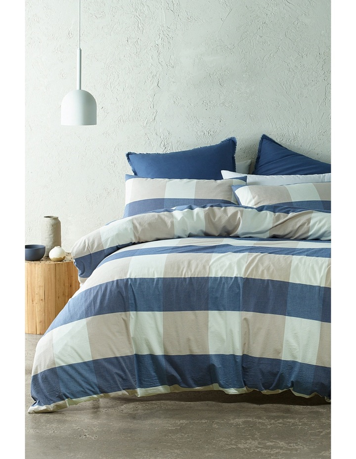 Seonda Quilt Cover Range in Blues image 1