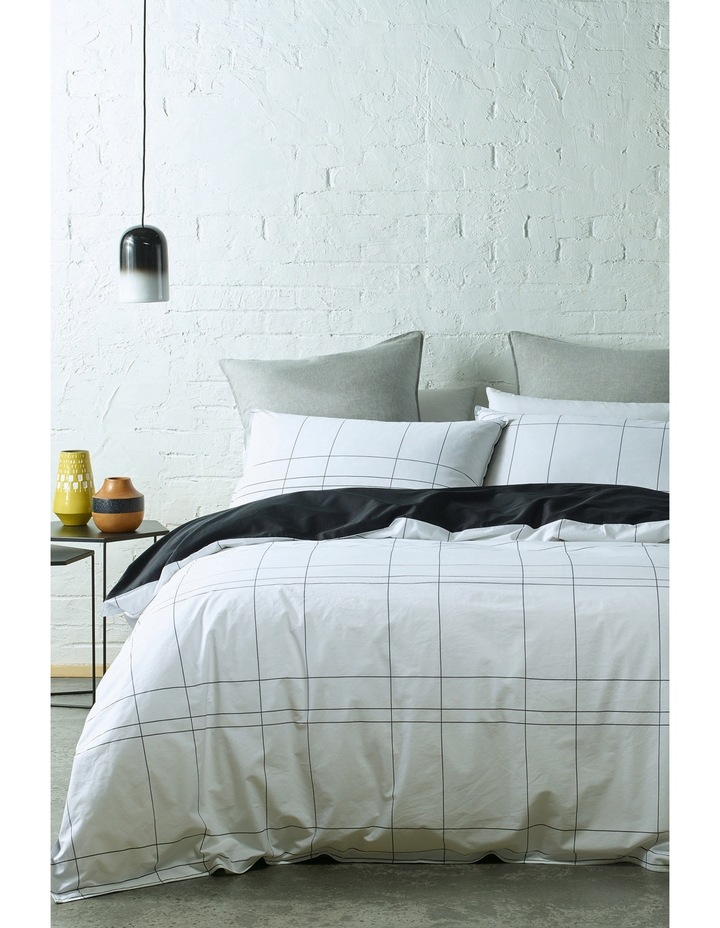 Phoenix Quilt Cover Range in White / Black image 1
