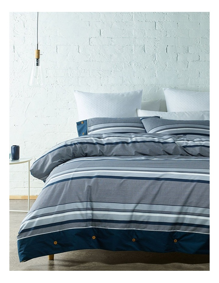 Grayson Cotton Sateen Quilt Cover Set in Navy image 3