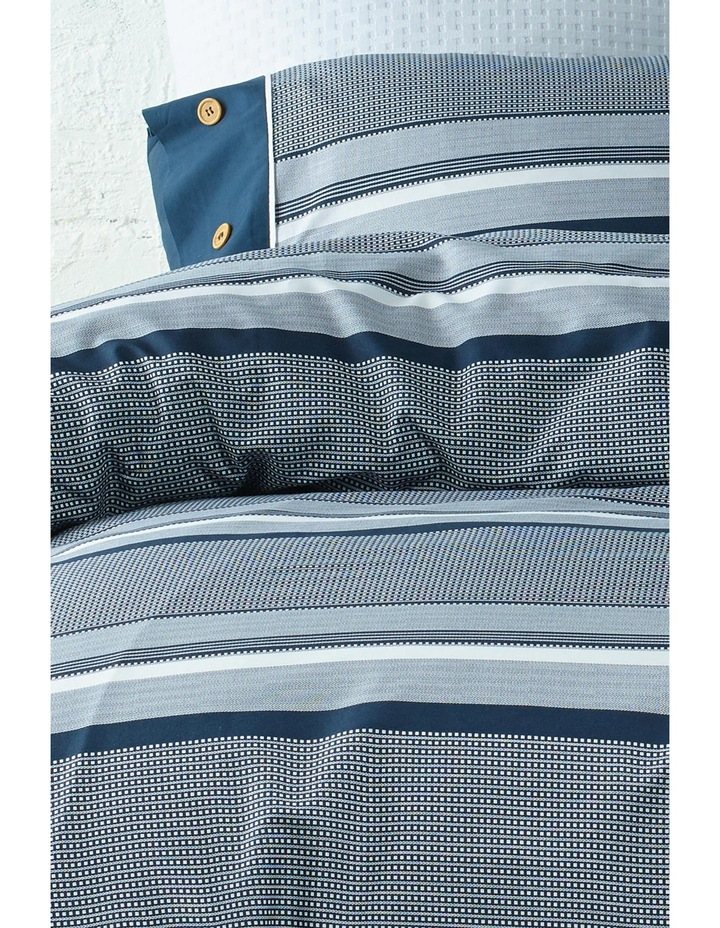 Grayson Cotton Sateen Quilt Cover Set in Navy image 2