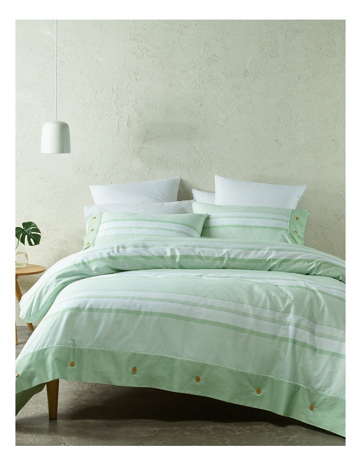 Grayson Cotton Sateen Quilt Cover Set in Green image 1