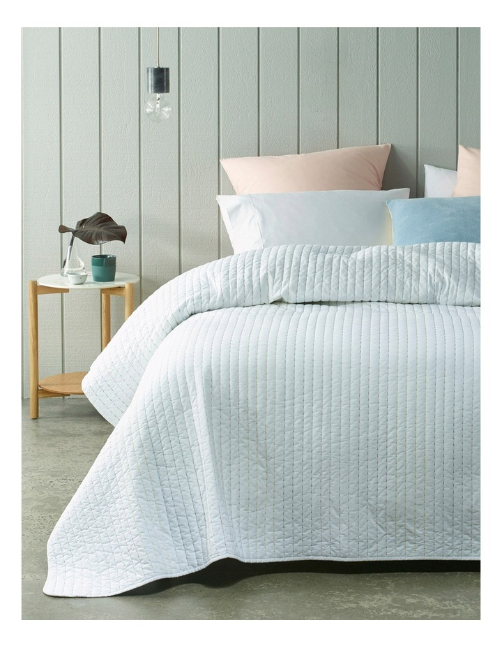 Suriname Cotton Coverlet in White image 1