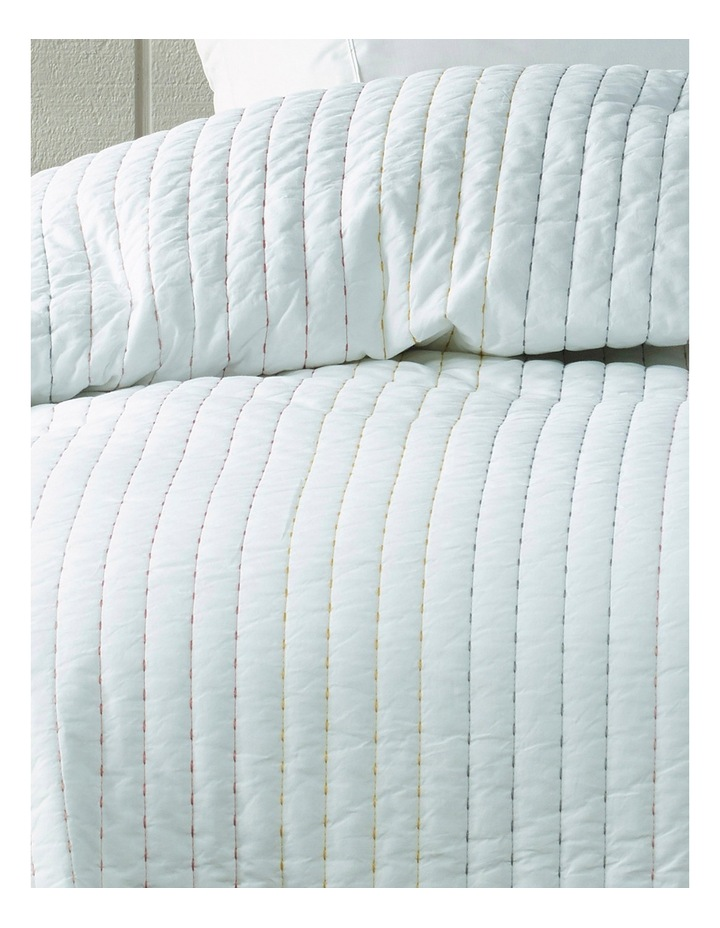 Suriname Cotton Coverlet in White image 2