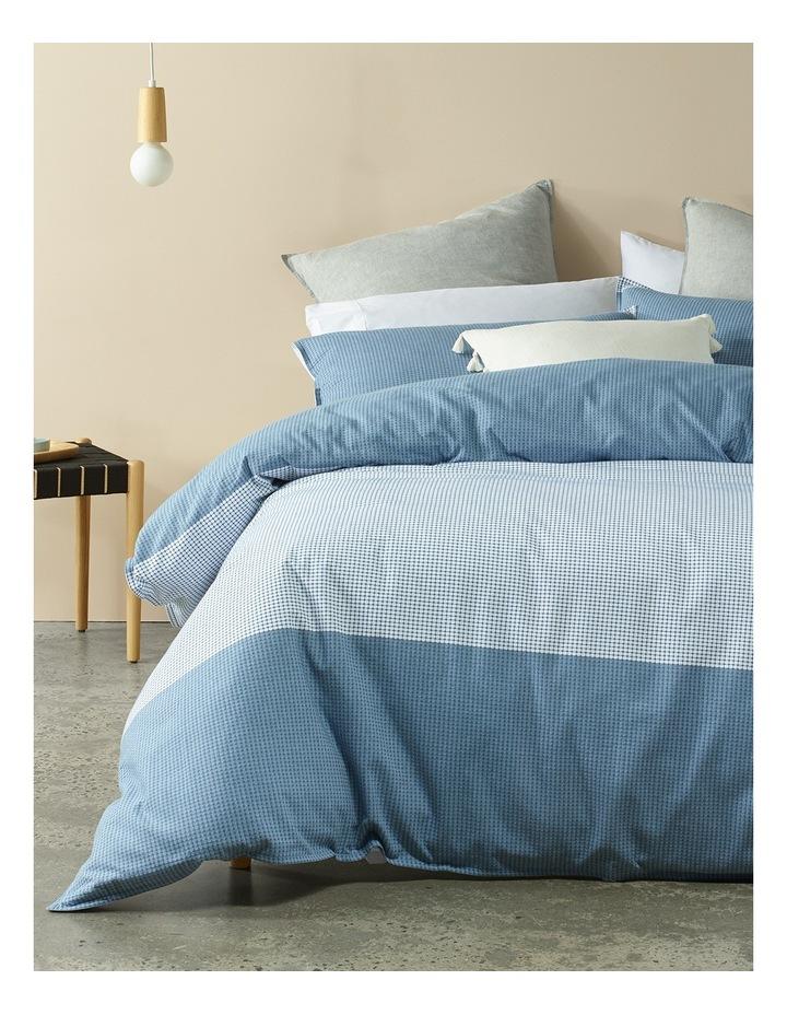 Spectrum Jacquard Quilt Cover Set in Blue image 1