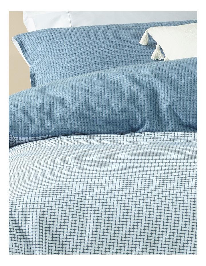 Spectrum Jacquard Quilt Cover Set in Blue image 2