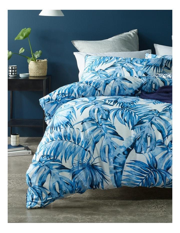 Coca Blue Leaf Quilt Cover Set in Multi image 1