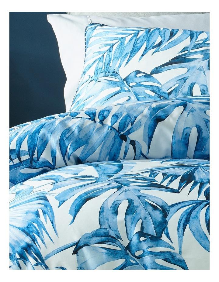 Coca Blue Leaf Quilt Cover Set in Multi image 2