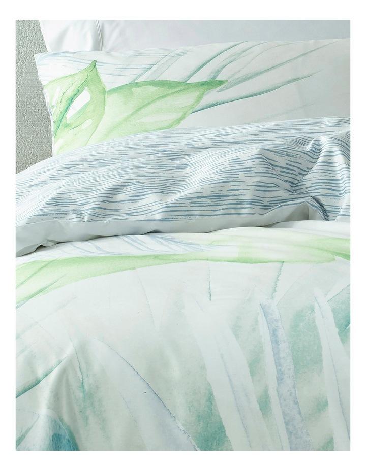 Iquitos Digital Leaf Print Quilt Cover Set in Multi image 2