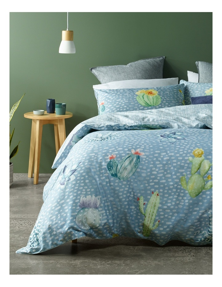 Agave Cactus Cotton Sateen Quilt Cover Set in Multi image 1