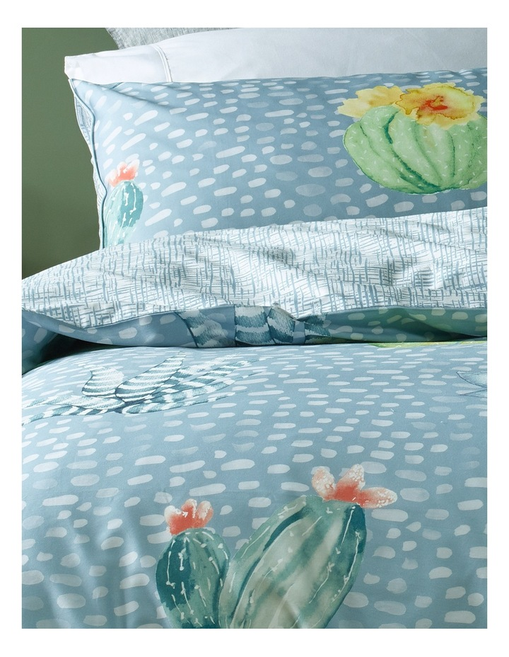Agave Cactus Cotton Sateen Quilt Cover Set in Multi image 2