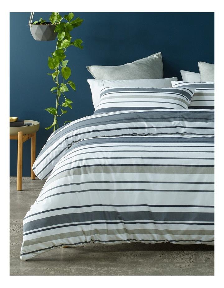 Jordan Printed Cotton Quilt Cover Set in Black/Grey image 1