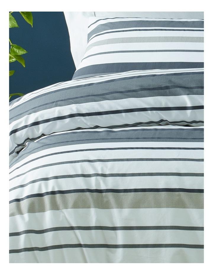Jordan Printed Cotton Quilt Cover Set in Black/Grey image 2