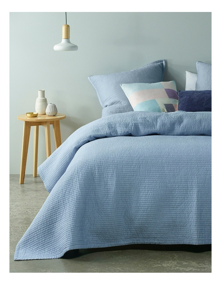 Cuzco Quilted Coverlet in Light Blue image 1