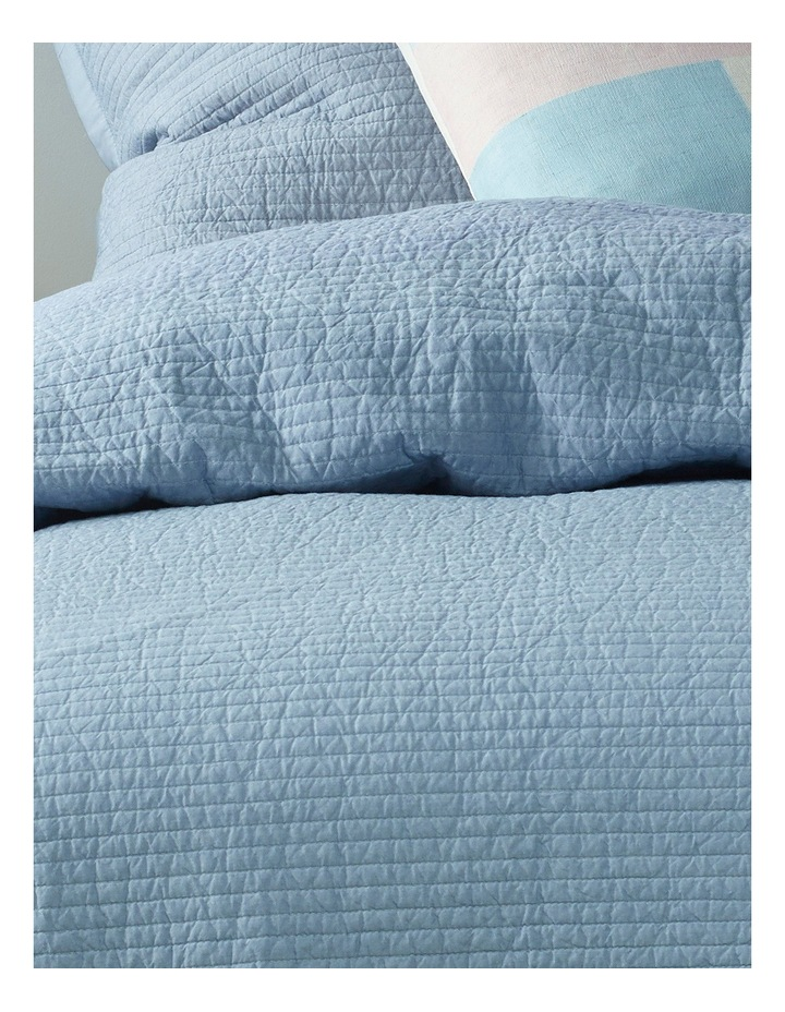 Cuzco Quilted Coverlet in Light Blue image 2