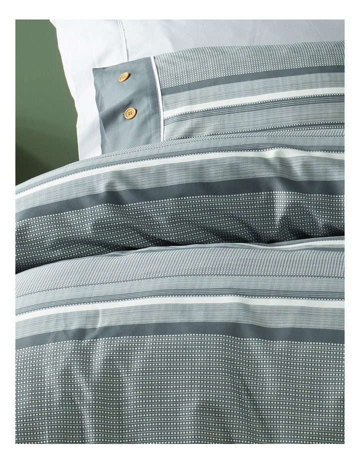 Grayson Cotton Sateen Quilt Cover Set in Charcoal image 2