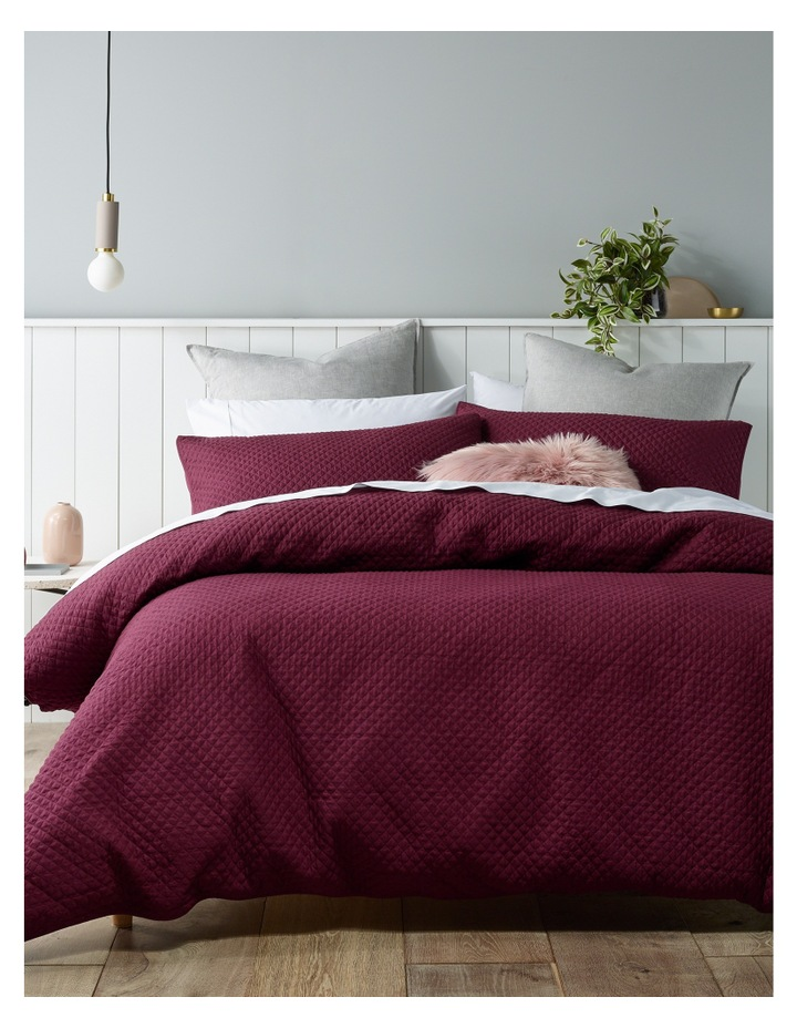 Gesso Quilted Quilt Cover Set in Fig image 1