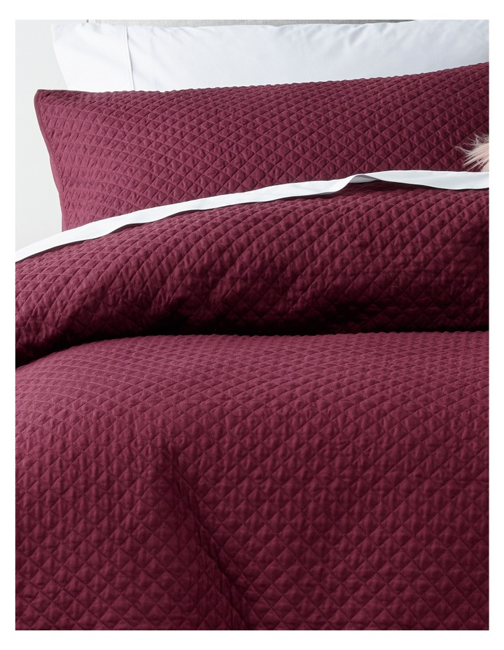 Gesso Quilted Quilt Cover Set in Fig image 2