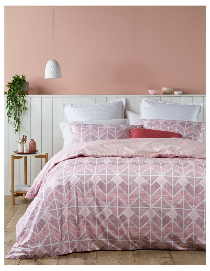 Tucson Cotton Sateen Quilt Cover Set in Rose image 1