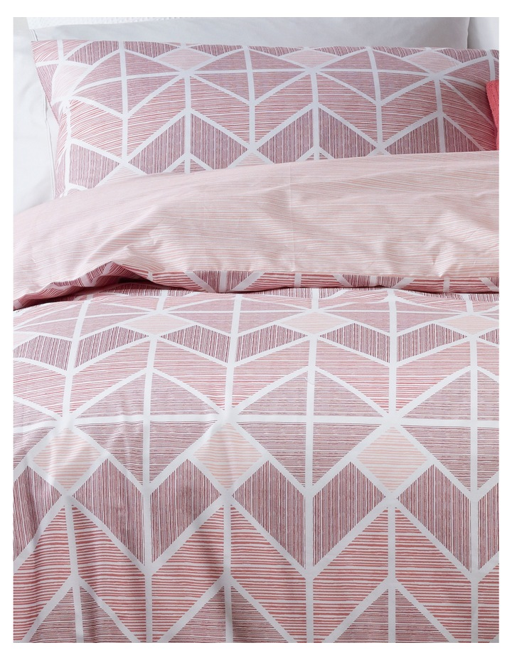 Tucson Cotton Sateen Quilt Cover Set in Rose image 2