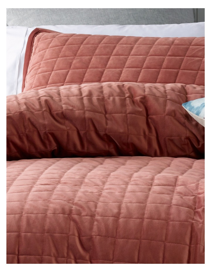 Tanami Quilted Quilt Cover Set in Withered Rose image 2