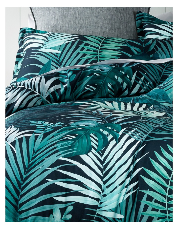 Maldives Cotton Sateen Quilt Cover Set in Dusty Green image 2