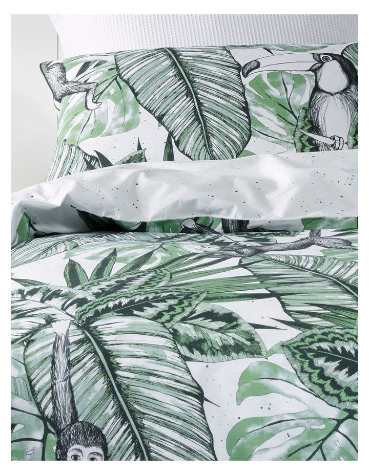 Tanzania Cotton Quilt Cover Set in Greens image 2