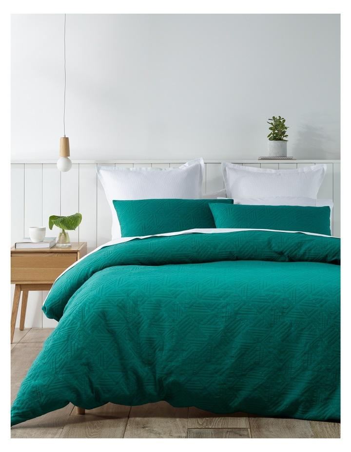 Brunei Matelasse Quilt Cover Set in Cadmium Green image 1