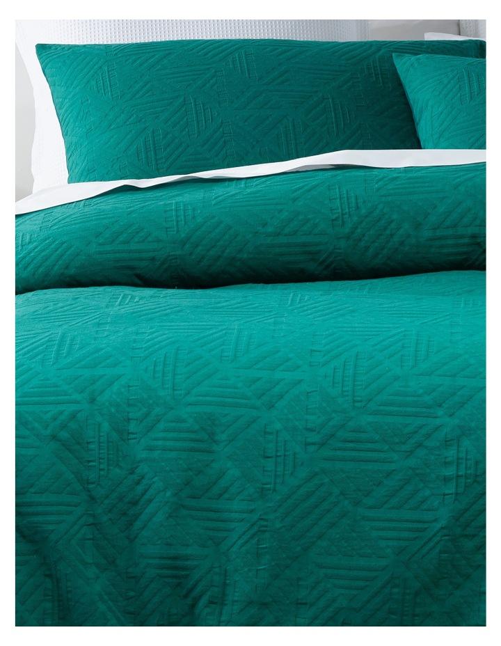 Brunei Matelasse Quilt Cover Set in Cadmium Green image 2