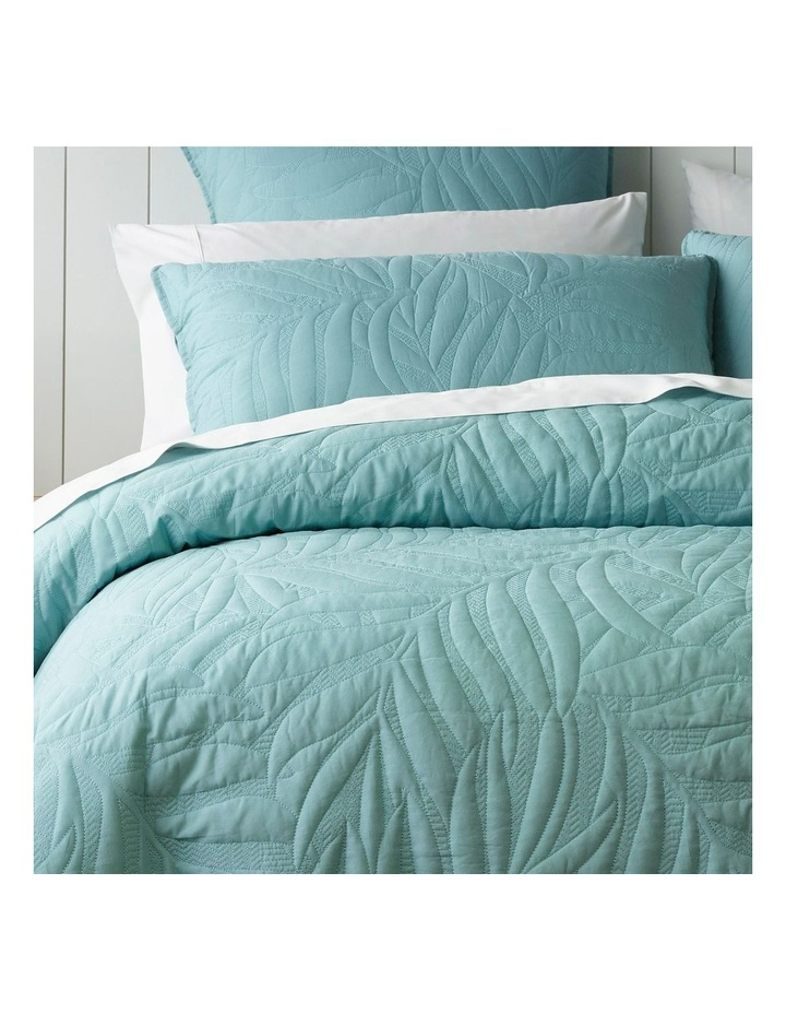 Congo Quilted Quilt Cover Set in Green image 2