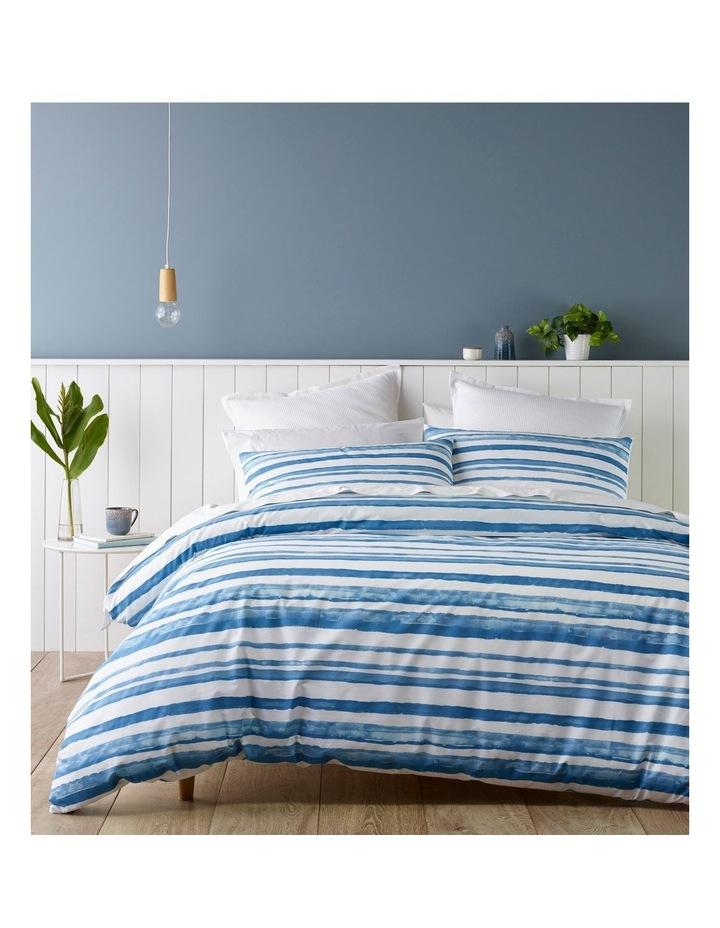 Austin Stripe Quilt Cover Set in Blue image 1